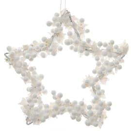 Ornamento appeso bianco Ø 15 cmL 15 x H 15 cm