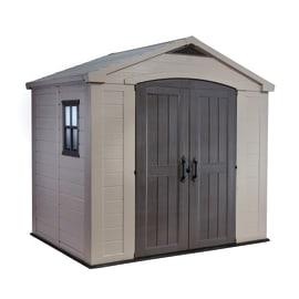 Casetta da giardino in polipropilene Factor 8x6 KETER 3.83 m² spessore 16 mm