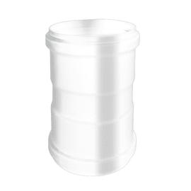 Manicotto Manicotto giunzione smaltato bianco Femmina/ femmina Dn 80 mm  in alluminio Ø 80 mm