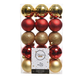 Sfera natalizia in plastica Ø 6 cm confezione da 30 pezzi