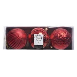 Sfera natalizia in plastica Ø 10 cm confezione da 3 pezzi