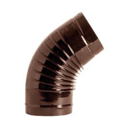 Curva 45° Curva smaltata marrone a 45° Dn 130 mm in acciaio al carbonio