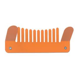 Appendiabiti Comb in ferro 2 ganci arancione