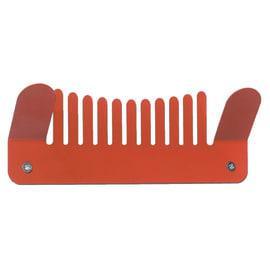 Appendiabiti Comb in ferro 2 ganci rosso