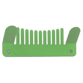 Appendiabiti Comb in metallo 2 ganci verde