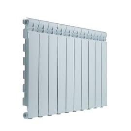 Radiatore acqua calda Wings in alluminio 10 elementi interasse 60 cm