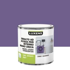 Smalto LUXENS base acqua marrone moka 3 satinato 0.5 L