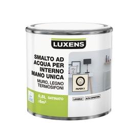 Smalto LUXENS base acqua bianco paper 2 satinato 0.5 L