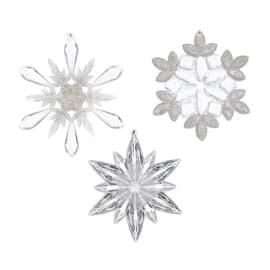 Ornamento appeso grigio / argento Ø 10.5 cmL 12.5 x H 10.5 cm
