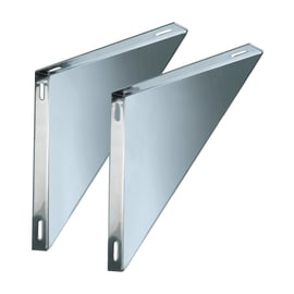 Staffa Coppie supporti per piastre doppia parete DN 100 L 250 x H 30 mm Ø Dn 100/150 per doppia parete mm