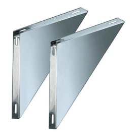 Staffa Coppie supporti per piastre doppia parete DN 80 L 230 x H 30 mm Ø Dn 80/130 per doppia parete mm