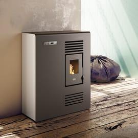 Stufa a pellet ventilata Tina 4 kW avorio