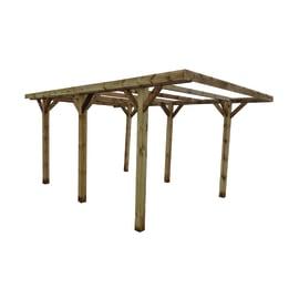 Carport in legno Firenze  auto L 512 X P 304 X H 233 cm