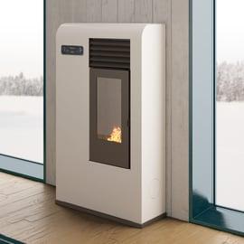 Stufa a pellet ventilata Zita 6.5 kW bianco