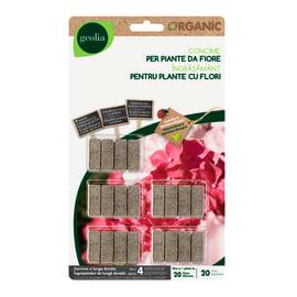 Concime piante fiorite bastoncini GEOLIA Organic 20 pezzi