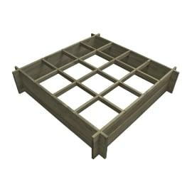 Fioriera per orto in legno L 120 x P 120 x H 27 cm