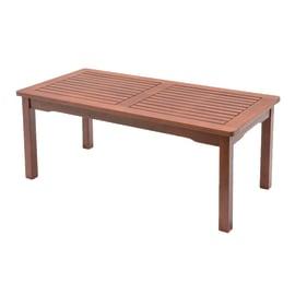 Tavolino da giardino rettangolare Kerving in legno L 50 x P 100 cm