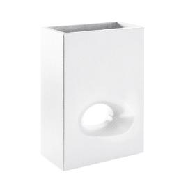 Vaso Mod'o in plastica H 75 cm, L 50 x P 26 cm