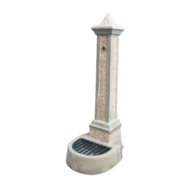 Fontana a colonna Giorgia in calcestruzzo H 100 cm, 36 x 46 cm