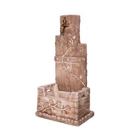 Fontana a colonna Quadrifoglio in calcestruzzo H 81 cm, 39 x 29 cm