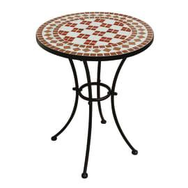 Tavolo da pranzo per giardino rotondo TTM con piano in mosaico Ø 55 cm