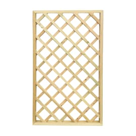 Pannello reticolato in legno Diago 100 x 180 cm