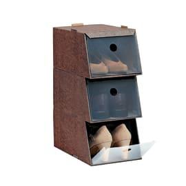 Set di 3 scatole L 21.5 x H 16 x P 34 cm
