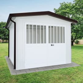 Garage in acciaio al carbonio Chicago 12.4 m², Sp 40 mm
