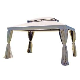Gazebo in alluminio Rettangolare ecru 400 cm x 3 m x 300 cm
