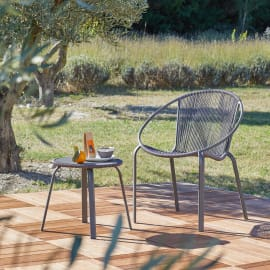 Tavolo da pranzo per giardino rotondo Veracruz NATERIAL in ferro