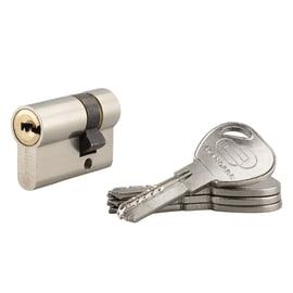 Cilindro 1 ingresso chiave STANDERS in ottone nichelato 30 + 10 mm interasse 30 mm