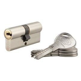 Cilindro 2 ingressi chiave STANDERS in ottone nichelato 35 + 35 mm interasse 35 mm