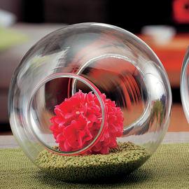 Vaso in vetro L 24 x H 22 cm Ø 24 cm