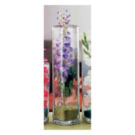 Vaso in vetro L 12 x H 52 cm Ø 12 cm
