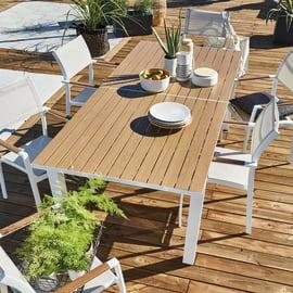 Tavolo da giardino allungabile rettangolare  con piano in Alluminio L 226 x P 102 cm
