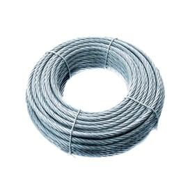 Cavo 72 fili in acciaio zincato Ø 6 mm x 25 m
