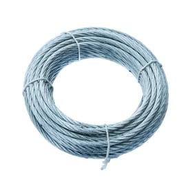 Cavo 72 fili in acciaio zincato Ø 6 mm x 10 m