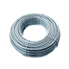 Cavo 72 fili in acciaio zincato Ø 8 mm x 25 m