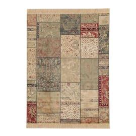 Tappeto persiano Orient farshian patchwork blu e grigio 160x230 cm