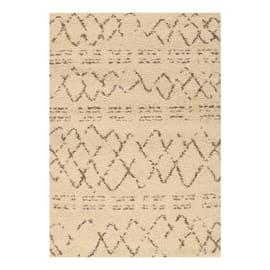 Tappeto Berber crema 160x230 cm