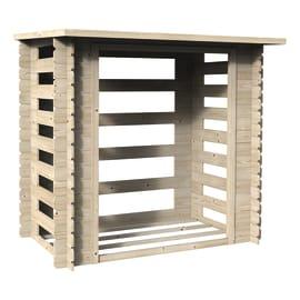 Legnaia in legno DECOR ET JARDIN L 190 x H 184 x P 118 cm trasparente