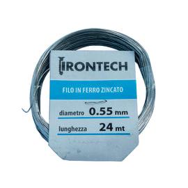 Filo in ferro Ø 0.5 mm x L 24 m