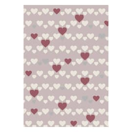 Tappeto Heart kids rosa 115x170 cm