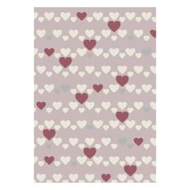 Tappeto Heart kids rosa 120x60 cm