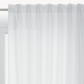Tenda INSPIRE New silka bianco fettuccia con passanti nascosti 200x280 cm