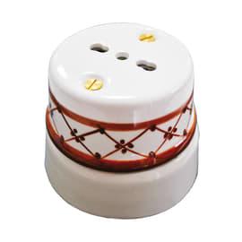 Presa singola Ceramica bianco