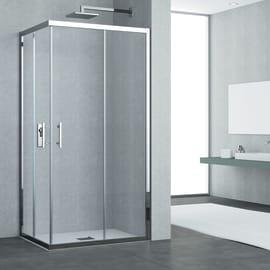 Box doccia rettangolare 70 x 120 cm, H 190 cm in vetro temprato, spessore 6 mm trasparente cromato