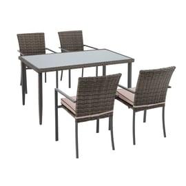 Tavolo da pranzo per giardino rettangolare Nassau in acciaio L 80 x P 140 cm