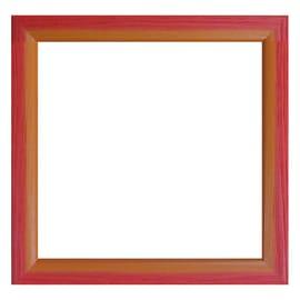 Cornice BICOLOR rosso / arancione per foto da 40X40 cm