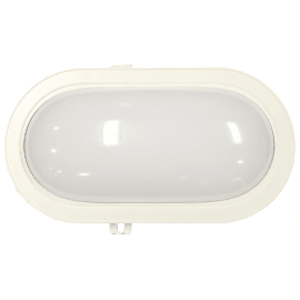 Applique Ovale LED integrato in plastica, bianco, 12W 1300LM IP44